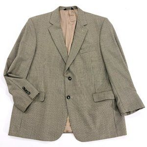 JOS A BANK Men's Brown Tan Blazer Jacket 46R